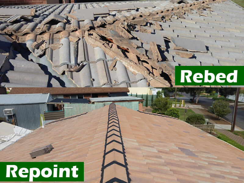 rebed repoint roof adelaide